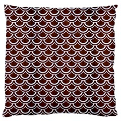 Scales2 White Marble & Reddish Brown Wood Standard Flano Cushion Case (one Side) by trendistuff