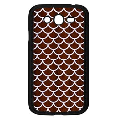 Scales1 White Marble & Reddish Brown Wood Samsung Galaxy Grand Duos I9082 Case (black) by trendistuff