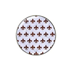 Royal1 White Marble & Reddish Brown Wood Hat Clip Ball Marker by trendistuff