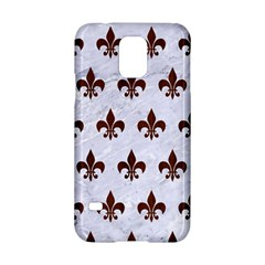 Royal1 White Marble & Reddish Brown Wood Samsung Galaxy S5 Hardshell Case  by trendistuff