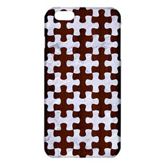 Puzzle1 White Marble & Reddish Brown Wood Iphone 6 Plus/6s Plus Tpu Case by trendistuff