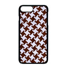 Houndstooth2 White Marble & Reddish Brown Wood Apple Iphone 8 Plus Seamless Case (black) by trendistuff