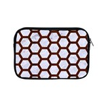 HEXAGON2 WHITE MARBLE & REDDISH-BROWN WOOD (R) Apple MacBook Pro 15  Zipper Case Front