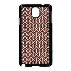 Hexagon1 White Marble & Reddish Brown Wood Samsung Galaxy Note 3 Neo Hardshell Case (black) by trendistuff
