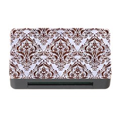 Damask1 White Marble & Reddish Brown Wood (r) Memory Card Reader With Cf by trendistuff