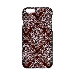 Damask1 White Marble & Reddish Brown Wood Apple Iphone 6/6s Hardshell Case by trendistuff