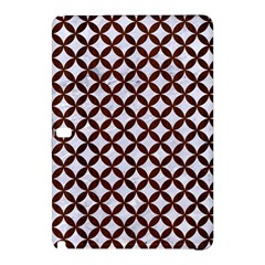 Circles3 White Marble & Reddish Brown Wood (r) Samsung Galaxy Tab Pro 12 2 Hardshell Case by trendistuff