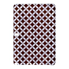 Circles3 White Marble & Reddish Brown Wood Samsung Galaxy Tab Pro 12 2 Hardshell Case by trendistuff