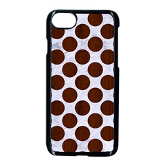 Circles2 White Marble & Reddish Brown Wood (r) Apple Iphone 7 Seamless Case (black) by trendistuff