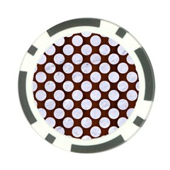 Circles2 White Marble & Reddish Brown Wood Poker Chip Card Guard (10 Pack) by trendistuff