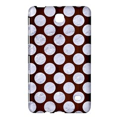 Circles2 White Marble & Reddish Brown Wood Samsung Galaxy Tab 4 (7 ) Hardshell Case  by trendistuff