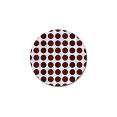 Circles1 White Marble & Reddish Brown Wood (r) Golf Ball Marker by trendistuff