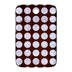 Circles1 White Marble & Reddish Brown Wood Samsung Galaxy Note 8 0 N5100 Hardshell Case  by trendistuff