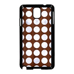 Circles1 White Marble & Reddish Brown Wood Samsung Galaxy Note 3 Neo Hardshell Case (black) by trendistuff