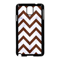 Chevron9 White Marble & Reddish Brown Wood (r) Samsung Galaxy Note 3 Neo Hardshell Case (black) by trendistuff