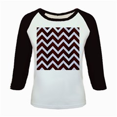 Chevron9 White Marble & Reddish Brown Wood Kids Baseball Jerseys