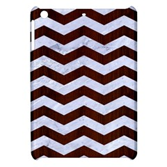 Chevron3 White Marble & Reddish Brown Wood Apple Ipad Mini Hardshell Case by trendistuff