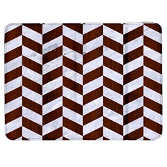 Chevron1 White Marble & Reddish Brown Wood Samsung Galaxy Tab 7  P1000 Flip Case by trendistuff