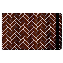 Brick2 White Marble & Reddish Brown Wood Apple Ipad 2 Flip Case by trendistuff