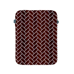 Brick2 White Marble & Reddish Brown Wood Apple Ipad 2/3/4 Protective Soft Cases by trendistuff
