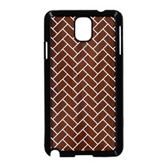 Brick2 White Marble & Reddish Brown Wood Samsung Galaxy Note 3 Neo Hardshell Case (black) by trendistuff