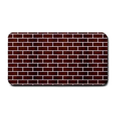Brick1 White Marble & Reddish Brown Wood Medium Bar Mats by trendistuff