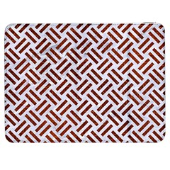 Woven2 White Marble & Reddish Brown Leather (r) Samsung Galaxy Tab 7  P1000 Flip Case by trendistuff