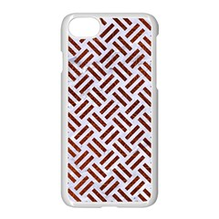 Woven2 White Marble & Reddish Brown Leather (r) Apple Iphone 7 Seamless Case (white) by trendistuff