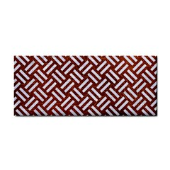Woven2 White Marble & Reddish Brown Leather Cosmetic Storage Cases by trendistuff