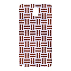 Woven1 White Marble & Reddish Brown Leather (r) Samsung Galaxy Note 3 N9005 Hardshell Back Case