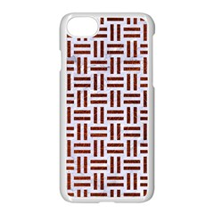Woven1 White Marble & Reddish Brown Leather (r) Apple Iphone 7 Seamless Case (white) by trendistuff