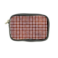 Woven1 White Marble & Reddish Brown Leather Coin Purse by trendistuff