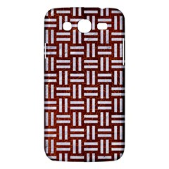 Woven1 White Marble & Reddish Brown Leather Samsung Galaxy Mega 5 8 I9152 Hardshell Case  by trendistuff