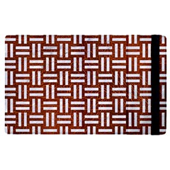 Woven1 White Marble & Reddish Brown Leather Apple Ipad Pro 12 9   Flip Case by trendistuff