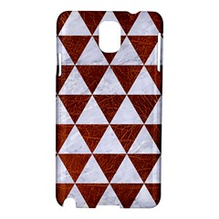 Triangle3 White Marble & Reddish Brown Leather Samsung Galaxy Note 3 N9005 Hardshell Case by trendistuff
