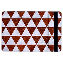 Triangle3 White Marble & Reddish Brown Leather Ipad Air 2 Flip by trendistuff