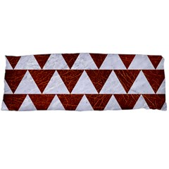 Triangle2 White Marble & Reddish Brown Leather Body Pillow Case (dakimakura) by trendistuff