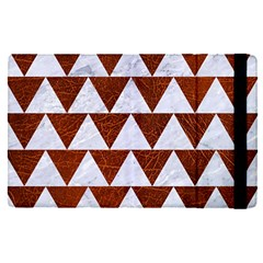 Triangle2 White Marble & Reddish Brown Leather Apple Ipad Pro 9 7   Flip Case by trendistuff