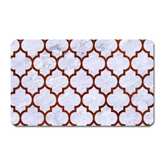 Tile1 White Marble & Reddish Brown Leather (r) Magnet (rectangular) by trendistuff