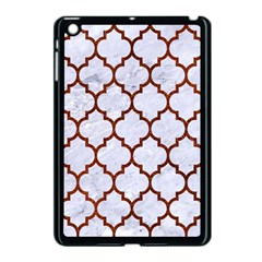 Tile1 White Marble & Reddish Brown Leather (r) Apple Ipad Mini Case (black) by trendistuff