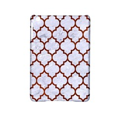 Tile1 White Marble & Reddish Brown Leather (r) Ipad Mini 2 Hardshell Cases