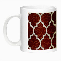 Tile1 White Marble & Reddish Brown Leather Night Luminous Mugs by trendistuff