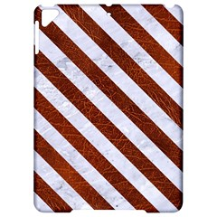 Stripes3 White Marble & Reddish Brown Leather Apple Ipad Pro 9 7   Hardshell Case by trendistuff