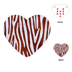 Skin4 White Marble & Reddish Brown Leather (r) Playing Cards (heart)  by trendistuff