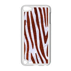 Skin4 White Marble & Reddish Brown Leather Apple Ipod Touch 5 Case (white) by trendistuff