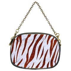 Skin3 White Marble & Reddish Brown Leather (r) Chain Purses (two Sides)  by trendistuff