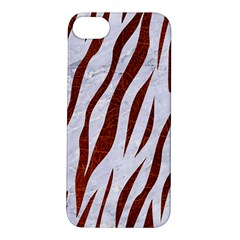 Skin3 White Marble & Reddish Brown Leather (r) Apple Iphone 5s/ Se Hardshell Case by trendistuff