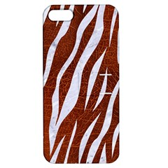 Skin3 White Marble & Reddish Brown Leather Apple Iphone 5 Hardshell Case With Stand by trendistuff