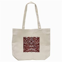 Skin2 White Marble & Reddish Brown Leather Tote Bag (cream) by trendistuff