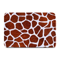 Skin1 White Marble & Reddish Brown Leather (r) Plate Mats by trendistuff
